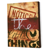 """Notice The Little Things"" Embellished Canvas"