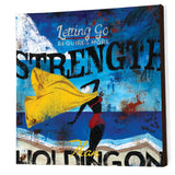 """Real Strength"" Embellished Canvas"