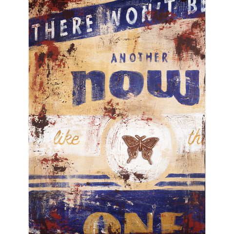 """Another Now"" Embellished Canvas"