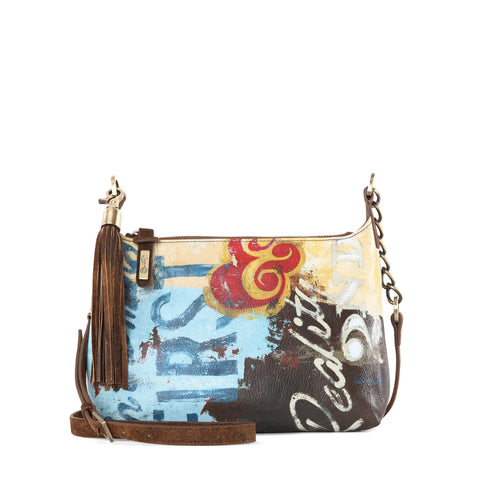 """Fina"" Small Crossbody w/ Tassel"