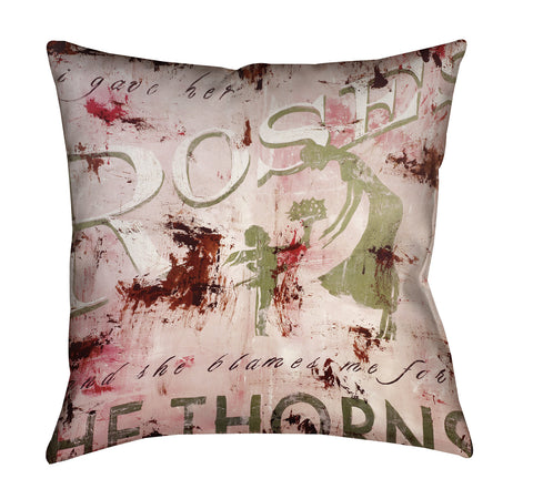 """Roses"" Outdoor Throw Pillow"