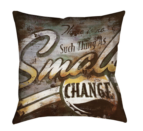 """Small Change"" Outdoor Throw Pillow"