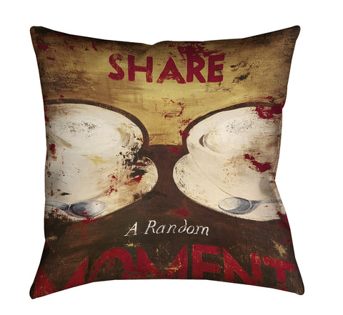 """Share A Random Moment"" Outdoor Throw Pillow"