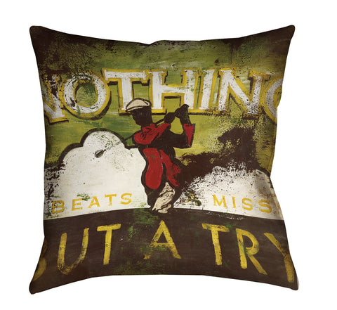 """Nothing Beats A Miss"" Outdoor Throw Pillow"