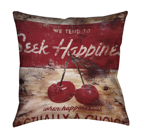 """The Hardest Of Easy Choices"" Outdoor Throw Pillow"
