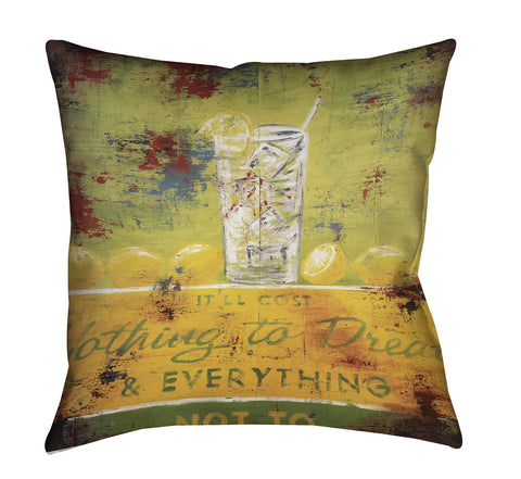 """Nothing To Dream"" Outdoor Throw Pillow"