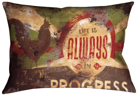 """Always In Progress"" Outdoor Throw Pillow"
