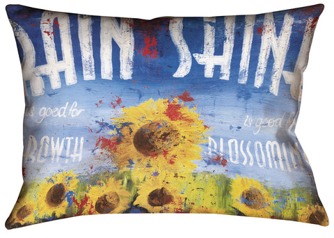 """Rain & Shine"" Outdoor Throw Pillow"