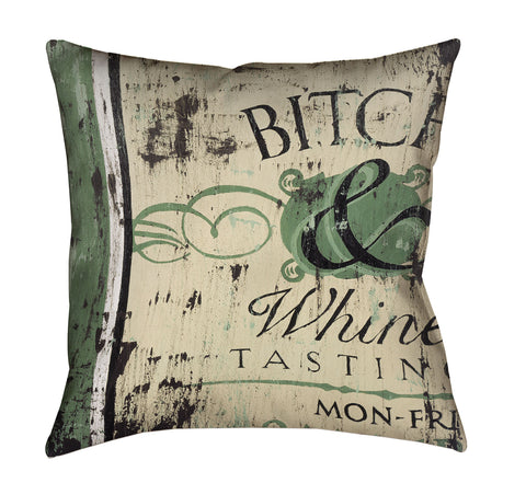 """Bitch & Whine Outdoor Throw Pillow"