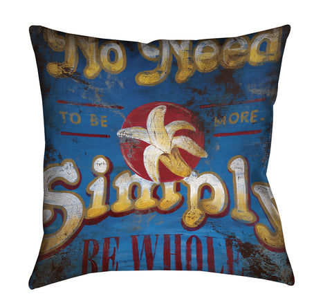 """Be Whole"" Outdoor Throw Pillow"