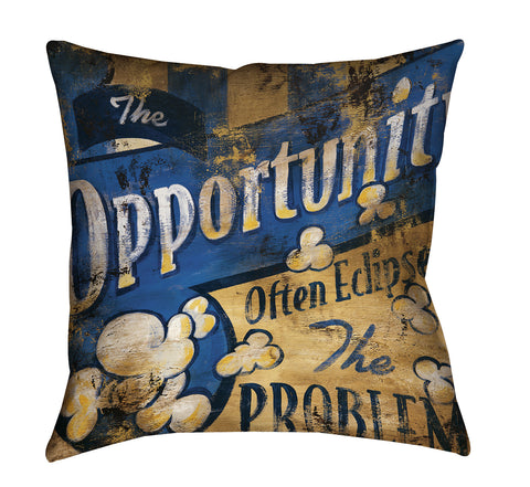 """Opportunity"" Outdoor Throw Pillow"
