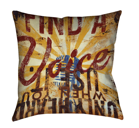 """The Voice Within"" Outdoor Throw Pillow"