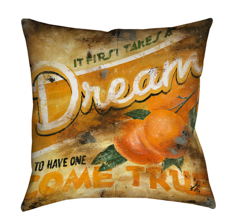 """First Things First"" Outdoor Throw Pillow"