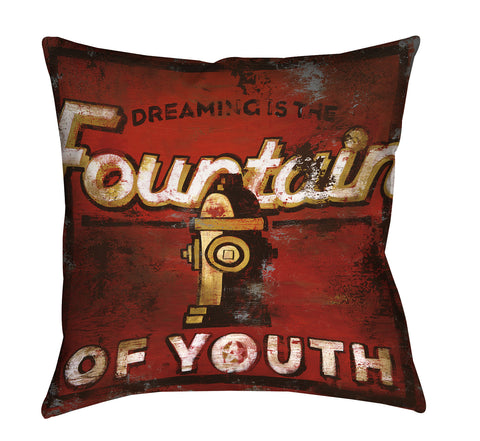 """Fountain Of Youth"" Throw Pillow"