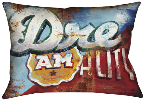 """Wake Up"" Outdoor Throw Pillow"