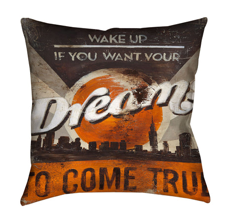 """Dreams To Come"" Outdoor Throw Pillow"