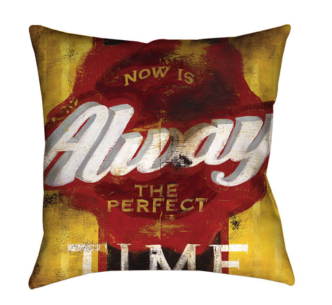 """Perfect Timing"" Outdoor Throw Pillow"