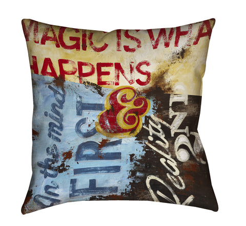"""Strategy For Everyday Sorcery"" Throw Pillow"