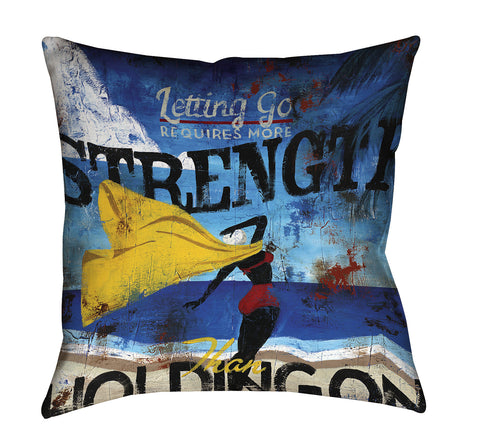 """Real Strength"" Throw Pillow"