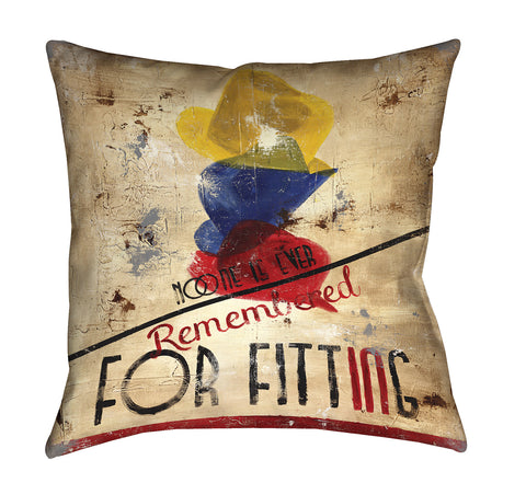 """In Loving Memory"" Throw Pillow"