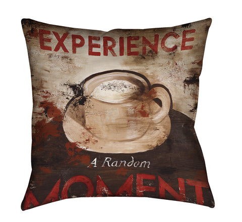 """Experience A Random Moment"" Outdoor Throw Pillow"