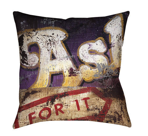 """Ask For It"" Throw Pillow"