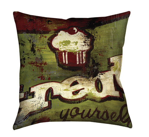 """You Deserve It"" Outdoor Throw Pillow"