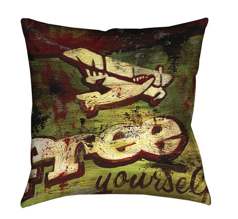"""No One's Prisoner"" Throw Pillow"