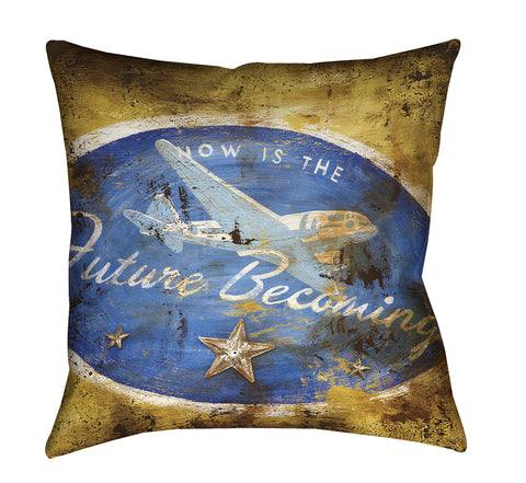 """Future Becoming"" Outdoor Throw Pillow"