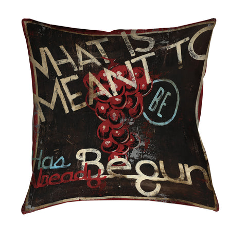 """The Preface"" Outdoor Throw Pillow"