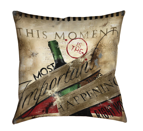 """Pay Attention"" Outdoor Throw Pillow"