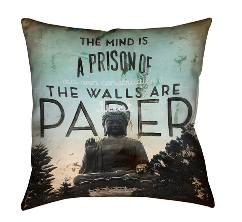 """Minimum Security"" Outdoor Throw Pillow"