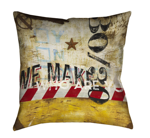 """Choices We Make"" Outdoor Throw Pillow"