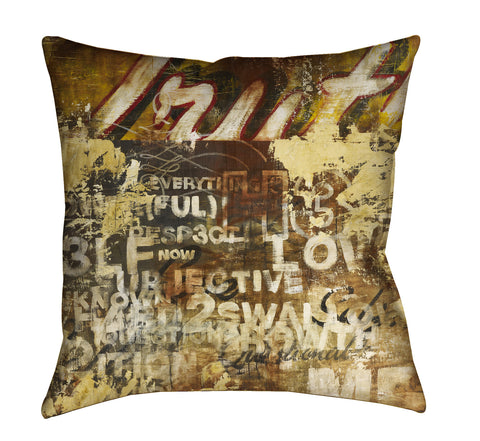 """Subjective Truths"" Outdoor Throw Pillow"