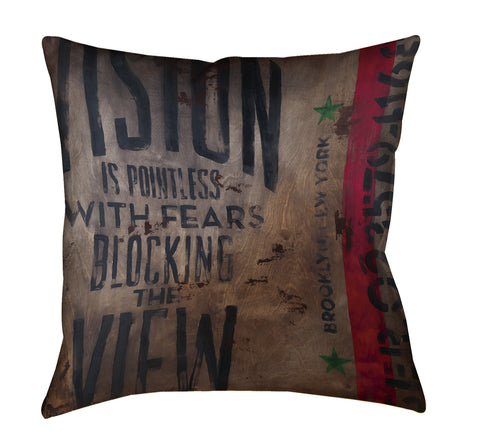 """A Terrible View"" Throw Pillow"