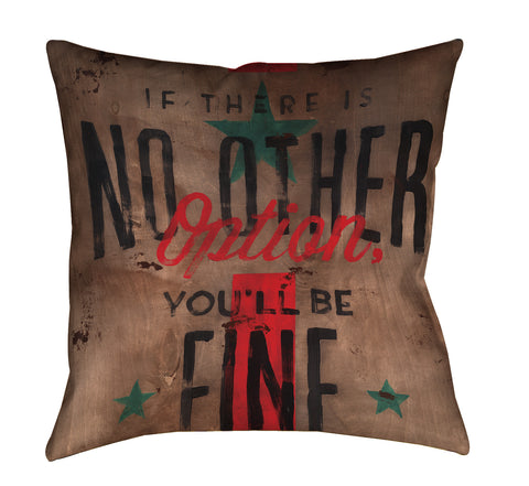 """And Dandy"" Outdoor Throw Pillow"