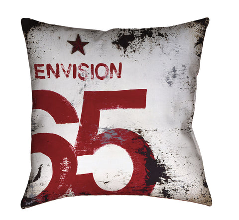 """Skillset Of An Elevated Mind: Envision"" Outdoor Throw Pillow"