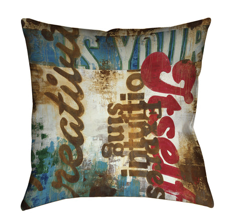 """Intuition Expressing"" Outdoor Throw Pillow"