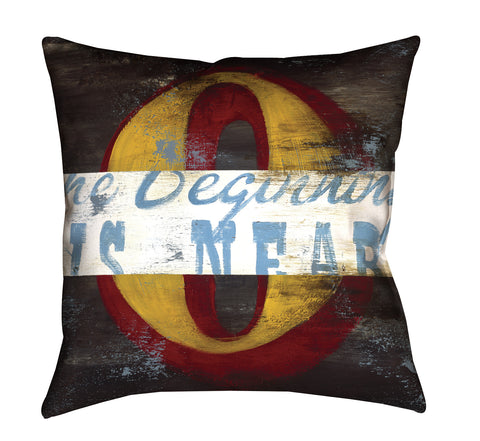 """0: The Beginning Is Near"" Throw Pillow"