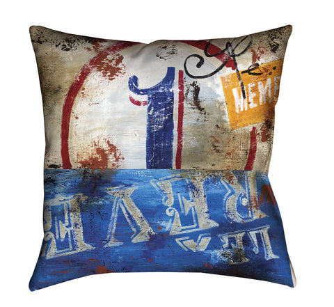 """1: La Reve"" Outdoor Throw Pillow"