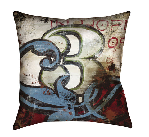 """3: In Hope Of"" Outdoor Throw Pillow"
