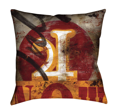 """4: Only For Now"" Throw Pillow"