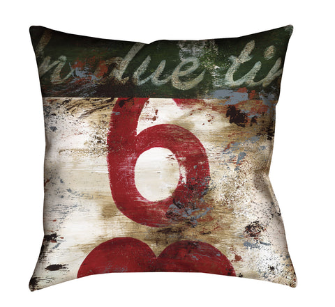 """6: In Due Time"" Outdoor Throw Pillow"