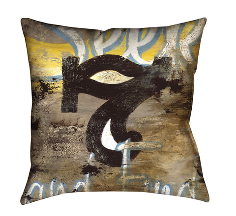 """7: Seek & Find"" Throw Pillow"