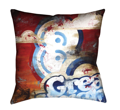 """8: Great Heights"" Outdoor Throw Pillow"