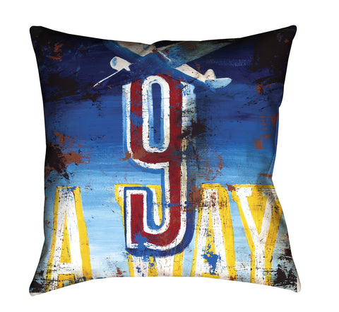 """9: Away"" Outdoor Throw Pillow"
