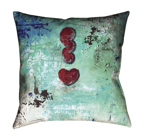 """Love Cloud: Get Excited"" Outdoor Throw Pillow"