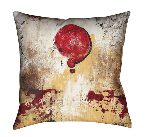 """Love Cloud: Why Not?"" Outdoor Throw Pillow"