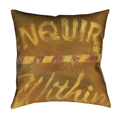 """Know It All"" Outdoor Throw Pillow"