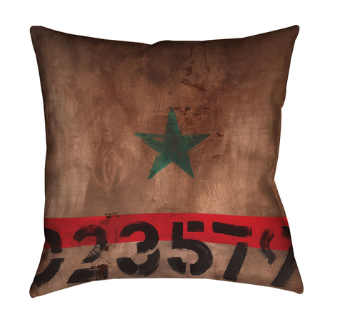 """STAR 023579"" Outdoor Throw Pillow"
